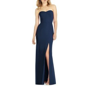AFTER SIX Midnight Navy 6803 Luxe Chiffon Gown
